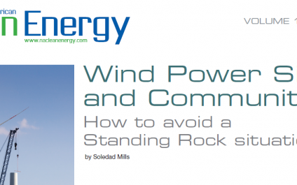 Wind Power Siting and Communities: How to avoid a Standing Rock situation